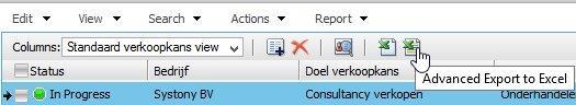 Vanaf Excel 2007 kun je geavanceerd exporteren gebruiken