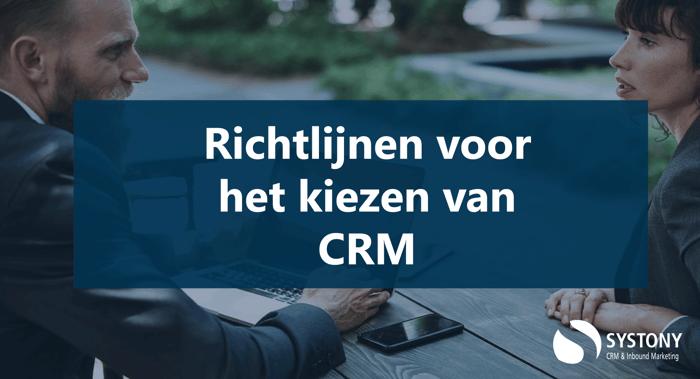 Hoe kies je CRM