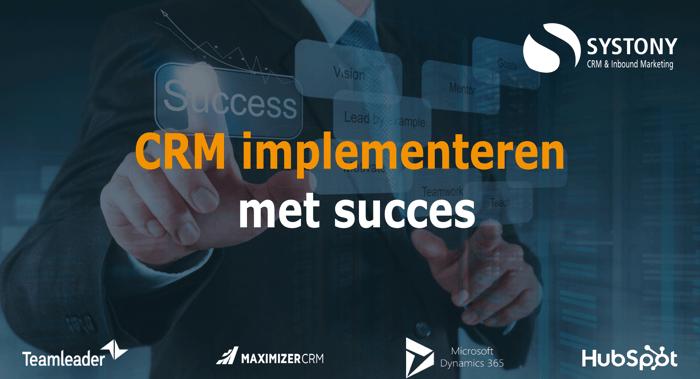 CRM implementatie met succes