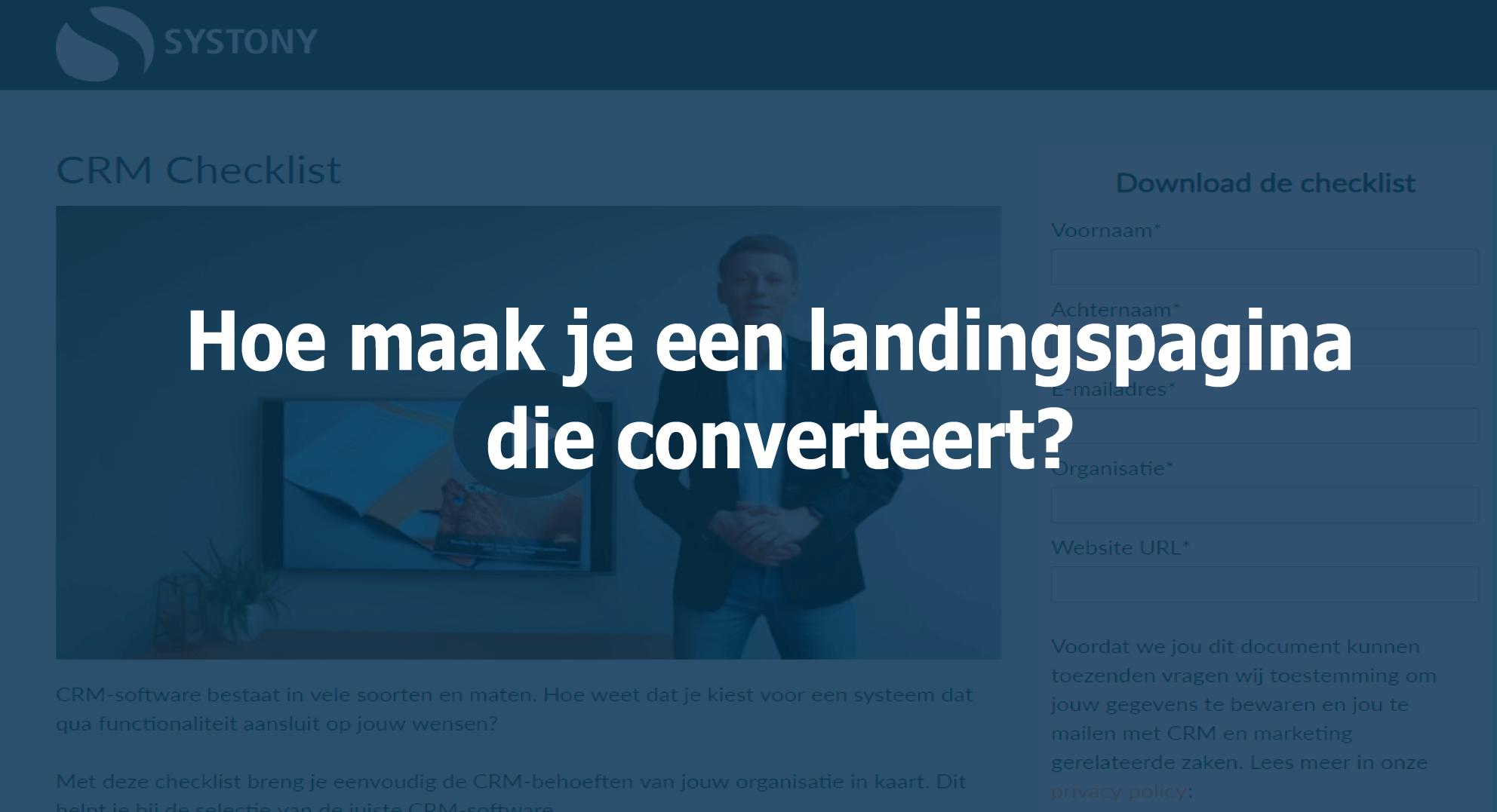leads converteren met landinsgpagina's