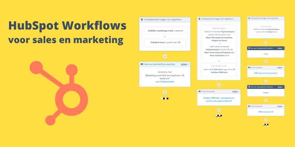 Voorbeelden HubSpot Workflows voor marketing en sales. Beginnen met workflows doe je zo.