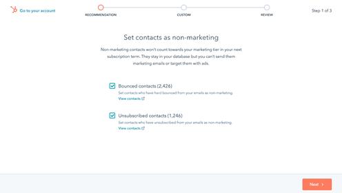 betaal alleen nog maar voor de contacten die je daadwerkelijk gebruikt voor je marketingactiviteiten, yah!