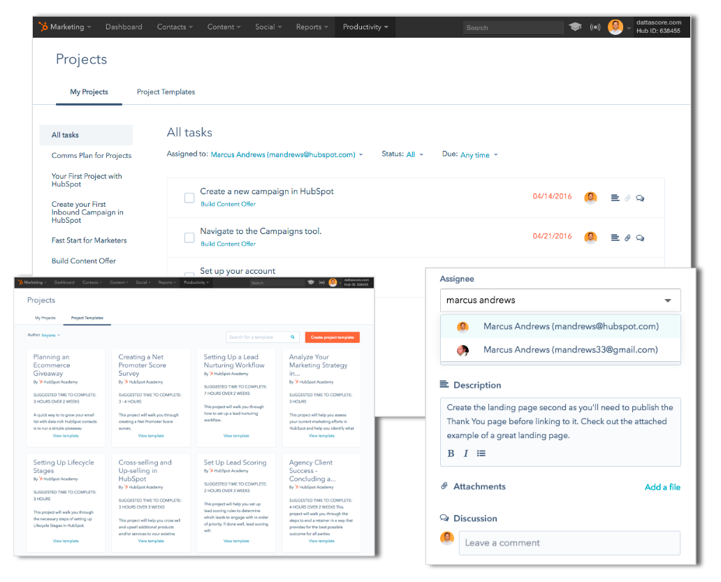 HubSpot Projects tool