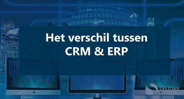het verschil tussen CRM en ERP software