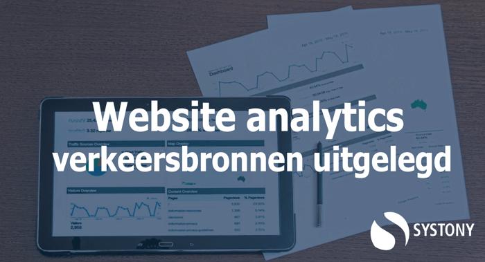 website analytics - uitleg verkeersbronnen