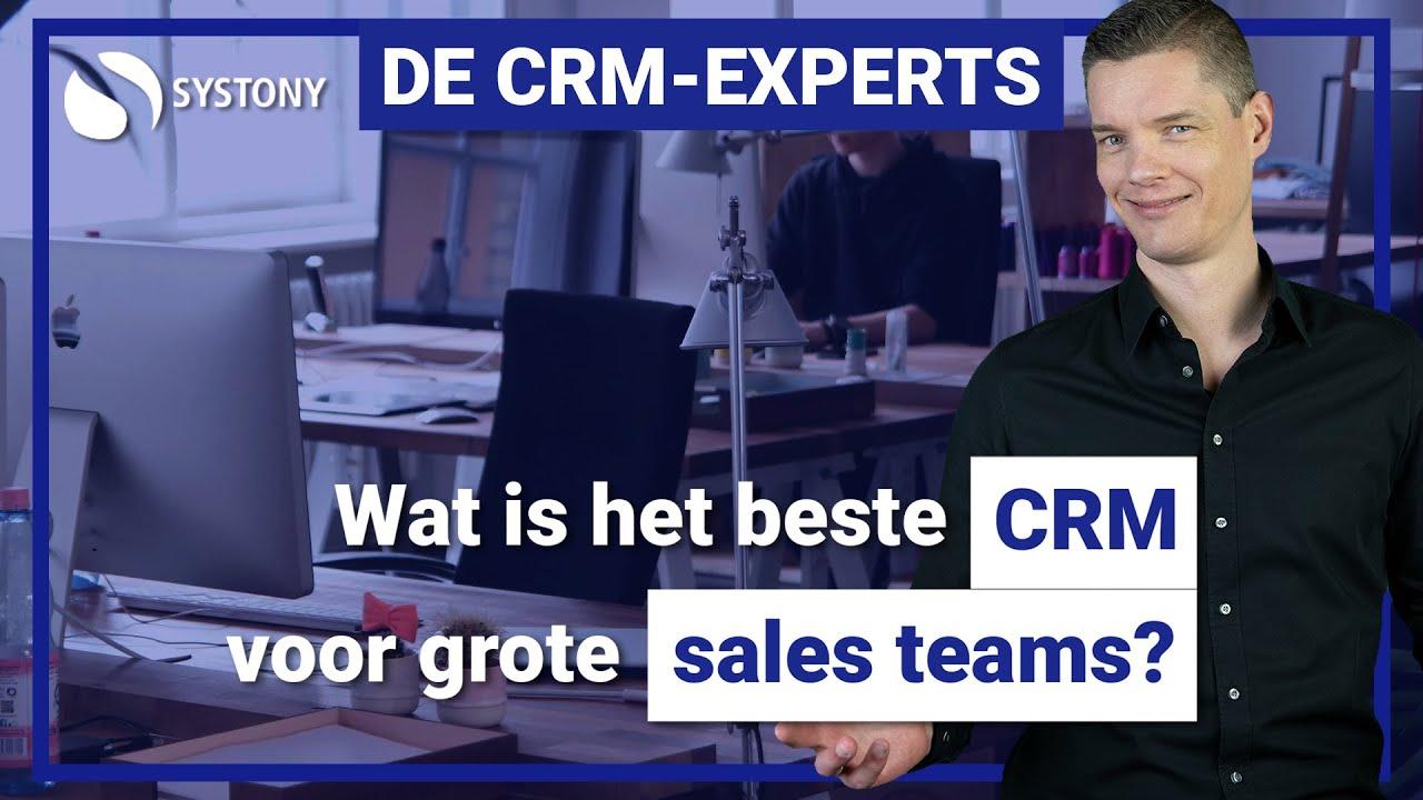 Het beste CRM voor grote sales teams