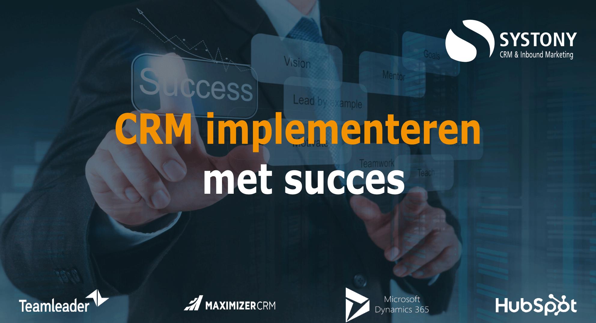 CRM implementeren met succes