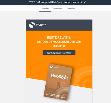 emailmarketing is ook helemaal fantastisch met de HubSpot Marketing Hub. Alleen dit voorbeeld van de mogelijkheden is al de moeite waard.