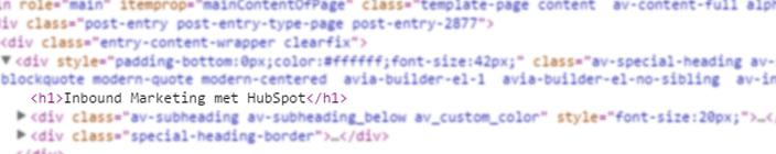h1 tag HTML kop