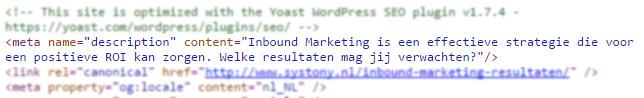 HTML meta description