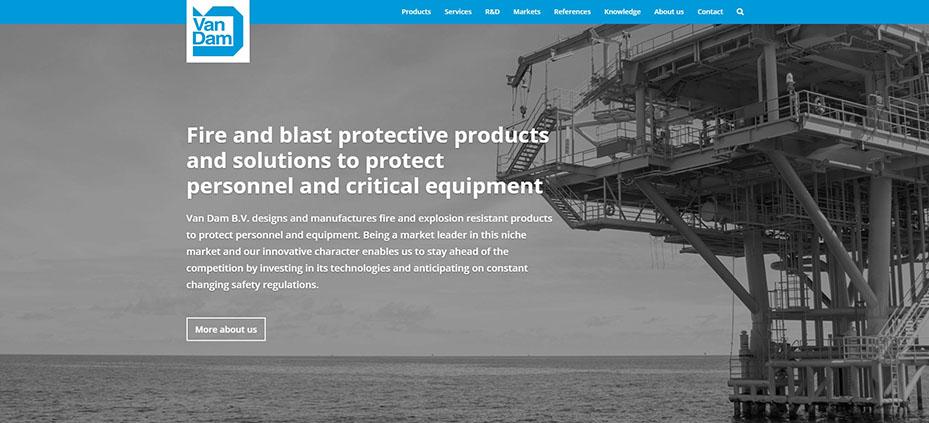 Lancering nieuwe website Van Dam
